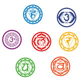 7Pcs/set Chakras Wall Stickers Mandala Yoga Meditation Symbol PVC Removable Wall Decals Murals Home Wall Decoration