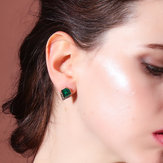 Luxury Emerald Rhinestone Lady Ear Stub