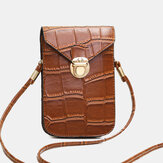 Women Vintage Alligator 6.3 inch Phone Bag Crossbody Bag