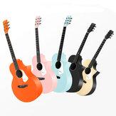 Enya Nova G 41 polegadas guitarra acústica sólida completa com Gig Bolsa / cinta / Capo / cordas / chave de ajuste para iniciantes
