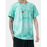 Tie Dye Mens Round Neck Casual Short Sleeve T-Shirts