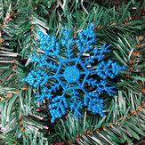 12PCS Christmas Snowflake Piece Plastic Hanger