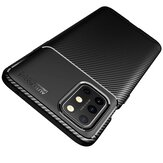 Bakeey for OnePlus 8T Case Luxury Carbon Fiber Pattern Shockproof Silicone Protective Case
