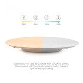 OFFDARKS AC220-240V 36W 420mm Lâmpada do teto Cozinha do quarto LED Luz de teto RGB escurecimento APP WIFI Controle de voz com 2.4G remoto Controlador