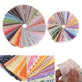 Pacote de patchwork impresso com tecido de algodão de cor aleatória 100 unidades para scrapbooking de gordura Padrão