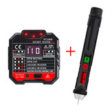 HT106B Socket Outlet Tester Circuit Polariteit Voltage Detector + Winpeak ET8900 Voltage Tester Pen