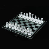 20 * 20/25 * 25 CM High-end Elegante K9 Checker Glas Schachspiel Set Home Dekorationen