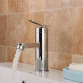 Miscelatore monocomando per lavabo a cascata con rubinetto cromato