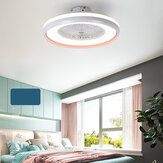 Aydınlatmalı Tavan Vantilatörü LED Lamba Kademesiz Karartma Ayarlanabilir Rüzgar Hızı Uzakdan Kumanda Olmadan Batarya Modern LED Yatak Odası Oturma Odası Yemek Odası için Tavan Lambası
