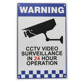 CCTV Znak ostrzegawczy Naklejka Security Video Surveillance Camera Safety Sign Reflactive Metal