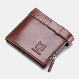 Men Genuine Leather RFID Anti-theftRetro Business Multi Card Slot Leather Card Holder Wallet