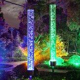 2PCS Solar Luz de burbuja de acrílico accionada LED RGB Jardín de césped Paisaje Lámpara Decoración