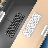 I610T 61 touches bluetooth sans fil / filaire double Modes blanc Blacklight clavier de jeu mécanique pour iPad Macbook ordinateur portable PC