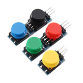 5Pcs 12x12mm Key Switch Module Touch Tact Switch Push Button Non-locking With Cap Red/Black/Yellow/Green/Blue