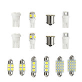 14 PCS LED Luzes Interior Kit T10 1157 36mm Festão Dome License Plate Lâmpadas Branco