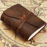 Caderno de couro retrô Couro Genuíno Livro de diário Livro de papel em branco feito à mão Banda Caderno
