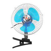 8 Inch 12V Mini Electric Oscillating Air Cooling Fan Clip Conditioner Cooler Fan For Auto Truck