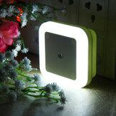 AC110-220V 0.5W Plug-in LED Lâmpada de luz noturna com luz Sensor Warm White US Plug / EU Plug