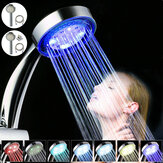 LED Shower Head Handheld Automatic Rainfall Waterfall 7 Colors Changing RGB Lights Shower Head With 1.5M Hose Base