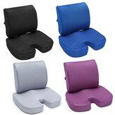 Cuscino del sedile in schiuma di memoria Protezione ortopedica per coccige Schienale per auto Schienale per la vita Sollievo dal dolore Massaggio Cuscino per anca