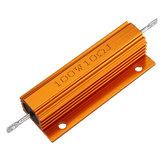 10 قطع RX24 100 واط 10r 10RJ معدن الألمنيوم حالة عالية القوة المقاوم الذهبي معدن شل حالة المبرد المقاومة المقاوم