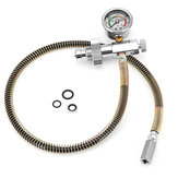 DIN Air Filling Charging Adapter Stainless Hoses With Gauge Fittings 0~6000 PSI