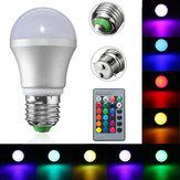 e27 / b22 3 واط عكس الضوء رغب ليد ضوء اللون تغيير لمبة + التحكم عن ac85-265v