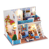 Wooden Multi-style 3D DIY Handmade Assemble Doll House Miniature Kit with Furniture LED Light Education Toy for Kids Gift Collection