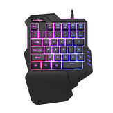 BLOODBAT G92 One-Handed Keyboard Colorful RGB Game Mechanical Keyboard Eat Chicken Throne Mobile Game Computer Keyboard