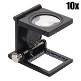 Xinxiang Folding 10X Magnifying Glass Watch Repair Cloth Textile Fabrics Inspection Scale Magnifier with Dual LED Loup