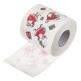 SantaClausImpriméJoyeuxNoëlPapier De Toilette Mouchoir En Papier Table Room Decor Ornement Artisanat Décorations