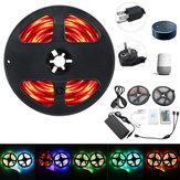 2*5M IP65 SMD2835 Flexible RGB LED Strip Light Smart WIFI Controller Alexa APP Control Kit DC12V