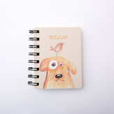Kawaii Cute Animal Cartoon Rollover Coil Carry Mini Portable Notebook Pocket Notepad School Office Stationery Supplies for students