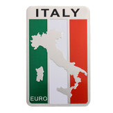 Adesivi per auto Italia Flag Map Badge Emblema in alluminio Decorazione Decal 8x5cm