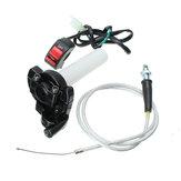 """Przełącznik hamulca przepustnicy typu """"Billet Throttle"""" Kill Brake & Braided Cable Motorized Bike Bike"""