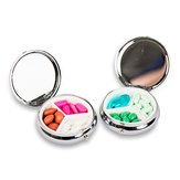 Honana HN-PB007 Portable Pocket Pill Case 3 Compartments Medicine Box Round Pill Organizer