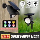 Waterproof LED Solar Lawn Light Colorful/Warm White+White Outdoor Wall Ground Garden Pathway Security Lamp