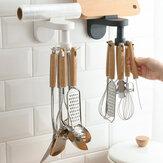 Mutfak Eşyaları Raf Ücretsiz Delme Duvara Monte Spatula Kaşık Depolama Raf Mutfak Malzemeleri Depolama Raf
