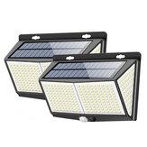 2 / 4Pcs ARILUX 8W 288LED solare Lampada da parete Sensore di movimento Giardino Cortile Percorso lampada 3 modalità Impermeabile IP65