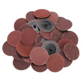 40pcs 2 Inch Roll Lock Sanding Disc 24/60/120/240 Grit Sandpaper