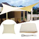 3.5x3.5M Square Sun Shade Sail Canopy Patio Garden Awning UV Block Top Shelter Beige