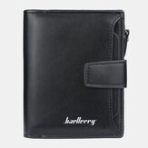 Monedero Baellerry Men Faux Leather Short Wallet Card Moneda Bolsa