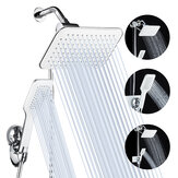5Pcs/Set Rainfall Shower Head Combo High Pressure Dual Shower Head Handheld Bath Shower Set 10 Inch