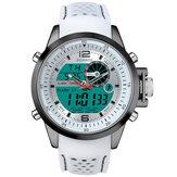 BOAMIGO F533 hommes mode Sport Style bracelet en métal complet affichage lumineux étanche double affichage montre numérique