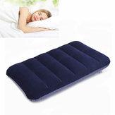 47x 30cm PVC Flocking Portable Inflation Pillow Outdoor Camping Travel Nap Sleeping pillow