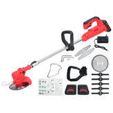 88VF 13000RPM Electric Cordless String Trimmer Weed Eater Lawn Mower Garden Grass Cutting Machine W/ 1/2 Battery