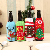 Nieuwkomer Bier Cocktail Fles Decor Cartoon Breien Fles Cover Tassen Kleding Home Party Dinner Table Kerst Decoratie