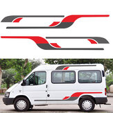 2pcs Vinyl Stripes Body DIY Stickers Decals Decoration Graphics For RV Camper Van Ford Transit