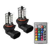 Lampadina fendinebbia RGBW multicolore per fari auto H7 H11 9005 9006 con controller a 24 tasti remoto 12V