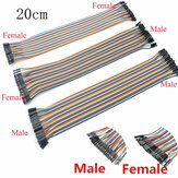 120pcs 40PIN 20CM Dupont Line Male to Male + Male to Female + Female to Female Jumper Dupont Wire Cable for DIY KIT